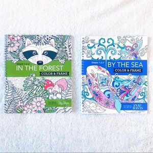 Color & Frame Stress Relief Coloring Books